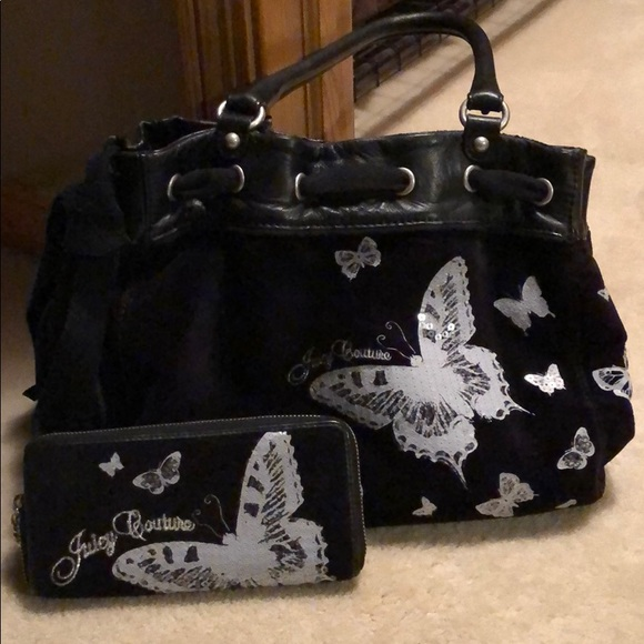Juicy Couture Handbags - Juicy Couture butterfly bag with matching wallet 0b871353f654